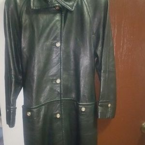 Nordstroms Leather Trench